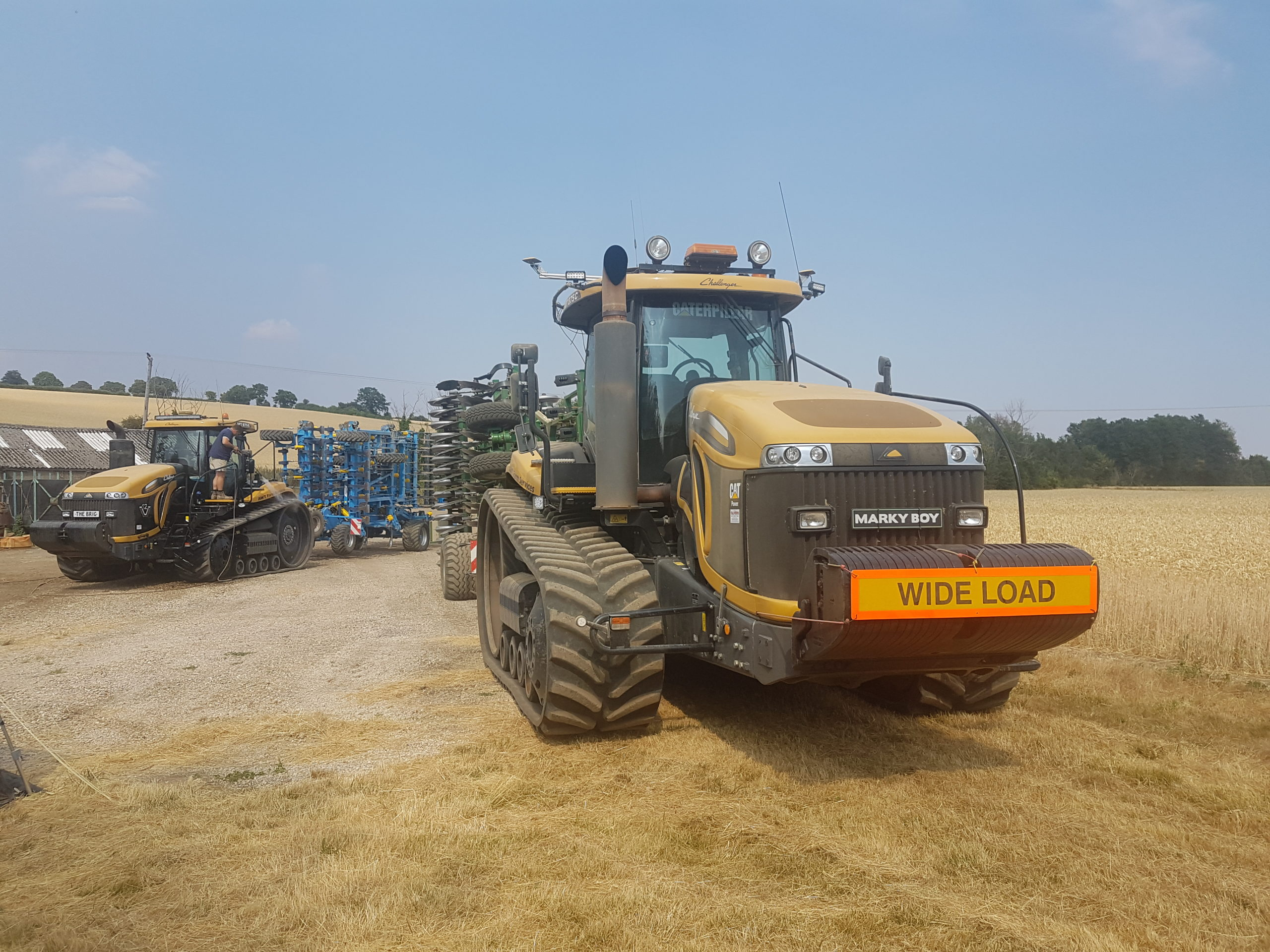 AGCO MT 865 OUTLAND HT8850 tracks working in Essex