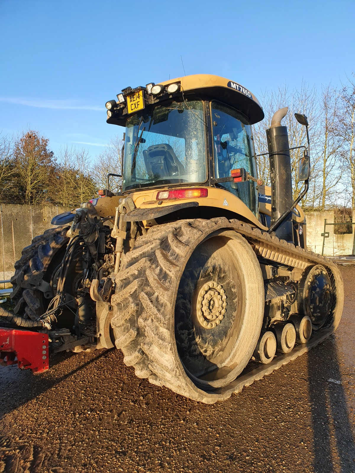AGCO MT700 OUTLAND HT7850 fitted to CAT Challenger MT 765 working in Northants
