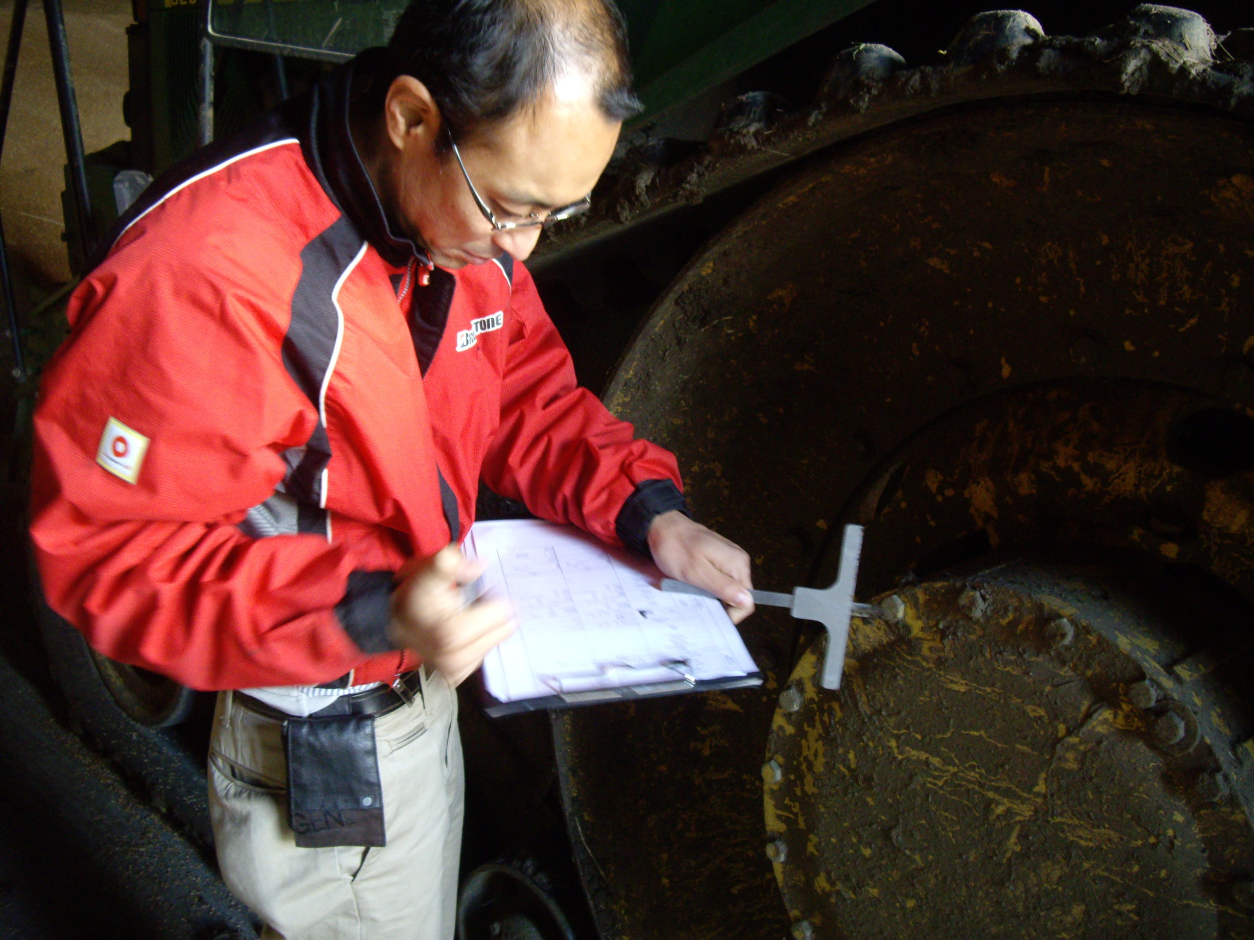 Fitting and inspection of Bridgestone tracks in Suffolk (3)