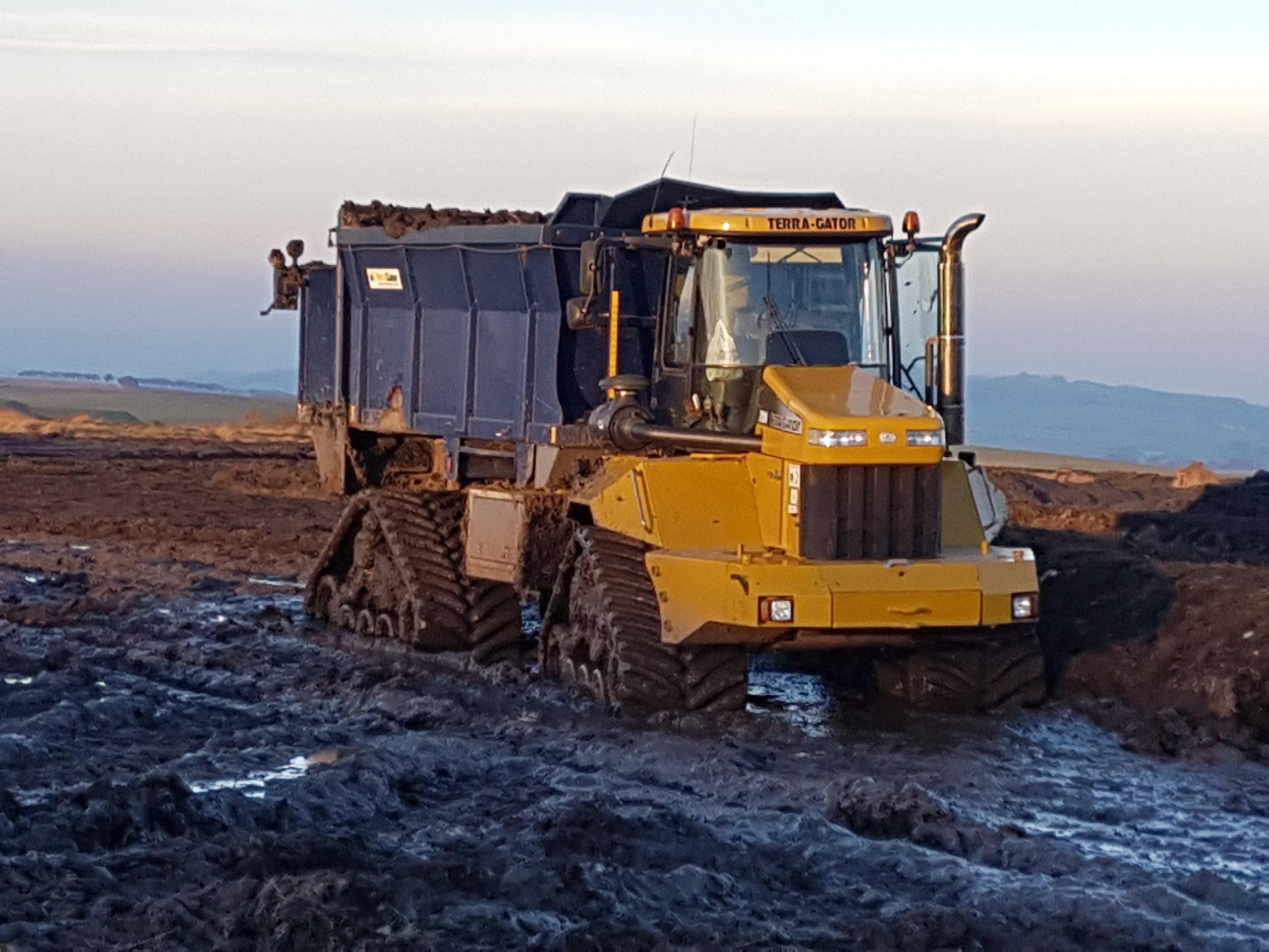 Poluzzi tracks fitted to Terragator 2104 working in Scotland