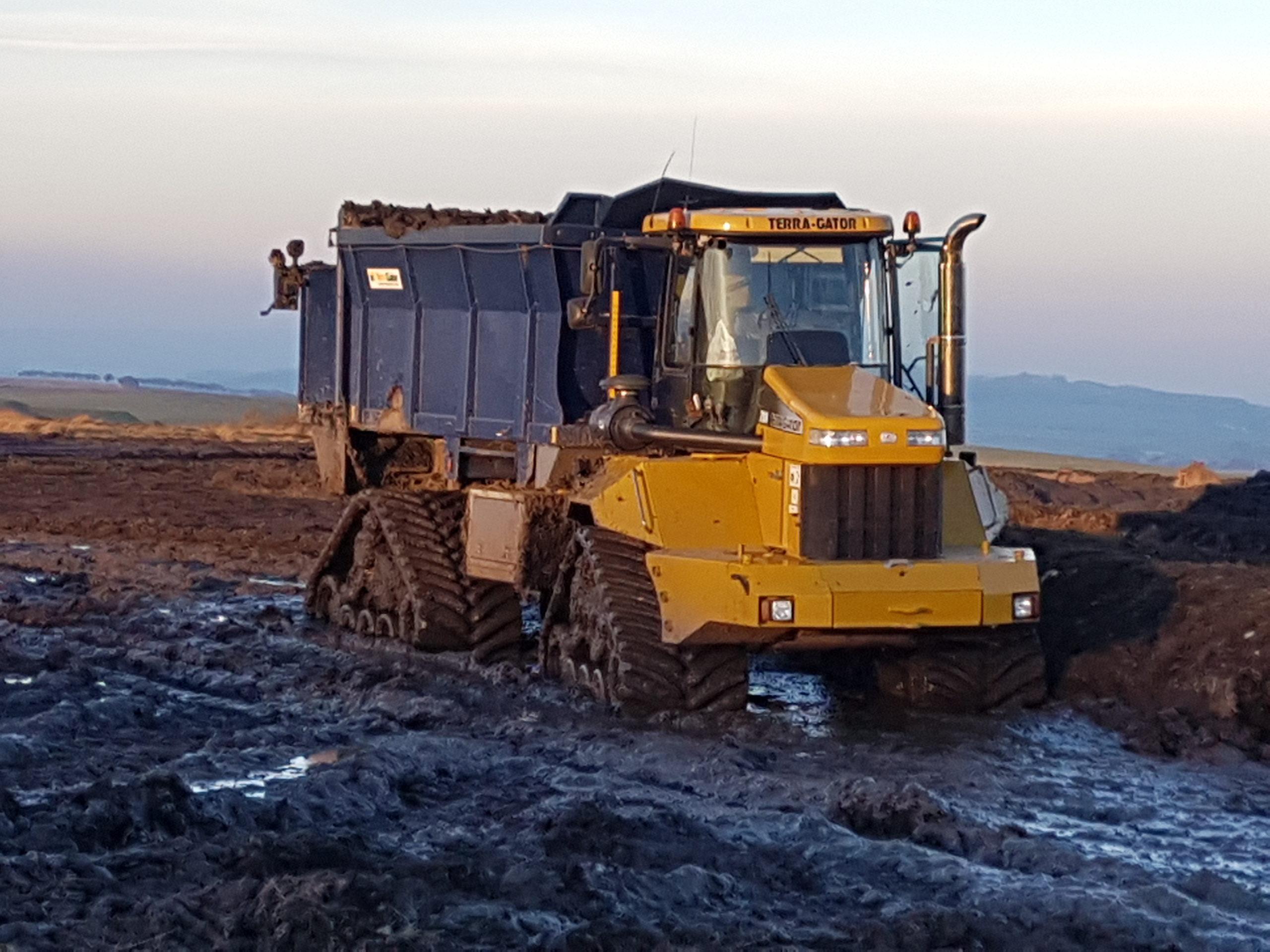 Poluzzi tracks fitted to Terragator 2104 working in Scotland