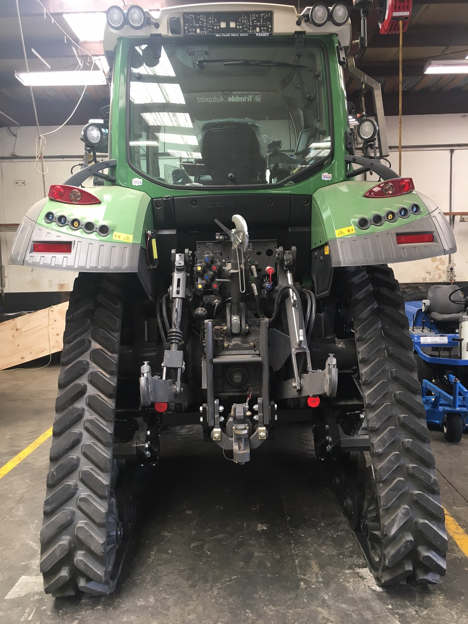 Soucy S Tech 612 tracks fitted to Fendt 512 working in NZ north island
